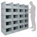 Basicline Euro Container Pick Wall (600 x 400 x 320mm DxWxH Bins) Short Side Pick Opening