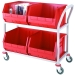4 Container Distribution Trolley with 2 Levels