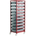 Ref: PLAS CT410P Mobile Tray Rack complete with 10 x Euro containers 120mm high (200kg)