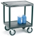 Ref: VGI734L Heavy Duty Plastic Shelf Trolley with 2 Flat Shelves and Large Wheels