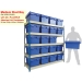 Ref: MRB/18/18/06/5 Shelving Bay with 20 x PLAS55LE (55 Litre) Attached Lid Containers