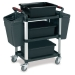 Ref: PLAS WHTT3SS/ACC 3 shelf trolley with accessories (Load capacity 150kgs)