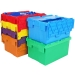 Coloured storage and moves crates