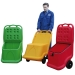 Coloured plastic mobile cart for indoor and outside use- UniKart