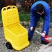 Outdoor plastic cart with wheels ideal for garden maintenance