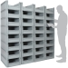 Basicline Euro Container Pick Wall (600 x 400 x 220mm DxWxH Bins) Short Side Pick Opening
