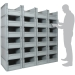 Basicline Euro Container Pick Wall (600 x 400 x 270mm DxWxH Bins) Short Side Pick Opening