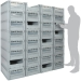 Basicline Euro Container Pick Wall (600 x 400 x 220mm DxWxH Bins) Short Side Pick Opening with Window