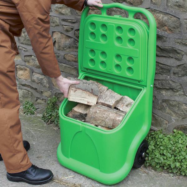Unikart Plastic Storage And Dispensing Grit Bin Trolley