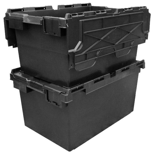Ref Lc3 P Black Black Recycled Plastic Hinged Lid